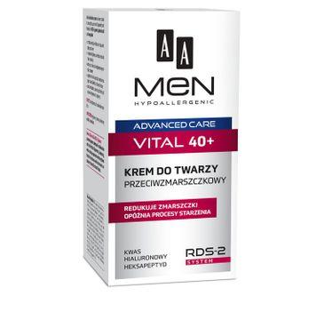 AA Men Advanced Care Vital 40+ krem do twarzy przeciwzmarszczkowy 50 ml