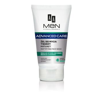AA Men Advanced Care Żel do mycia twarzy matujący 150 ml