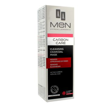 AA Men Carbon Care Maska oczyszczająca na twarz z węglem 30 ml