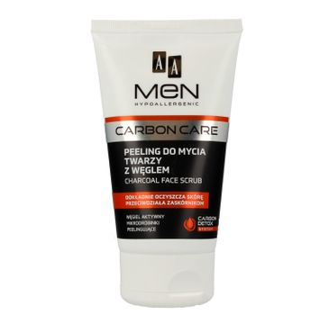 AA Men Carbon Care peeling do mycia twarzy z węglem 150 ml