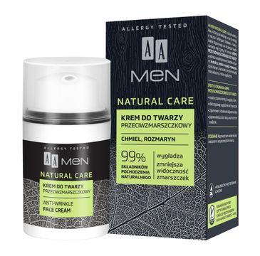 AA Men Natural Care Krem do twarzy przeciwzmarszczkowy (50 ml)