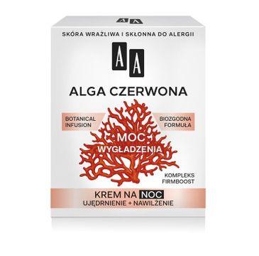 AA Moc roślin Alga czerwona krem na noc skóra wrażliwa 50 ml