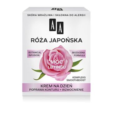 AA Moc roślin Róża japońska krem na dzień skóra wrażliwa 60+ 50 ml