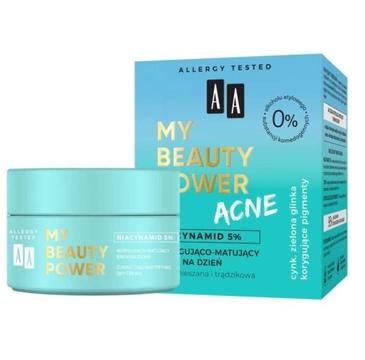 AA My Beauty Power Acne krem korygująco-matujący na dzień (50 ml)