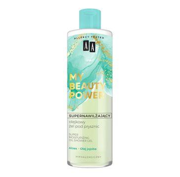 AA My Beauty Power Supernawilżający olejkowy żel pod prysznic aloes (400 ml)