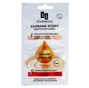 AA Oil Essence peeling i maska do stóp dwuetapowy zabieg do stóp Zadbane Stopy 10 ml