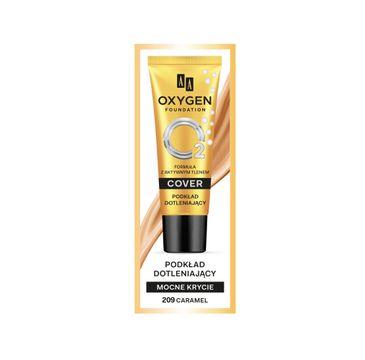 AA Oxygen Cover Foundation podkład dotleniający mocne krycie 209 Caramel (30 ml)
