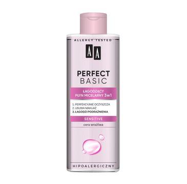 AA Perfect Basic Łagodzący płyn micelarny 3w1 Sensitive (200 ml)