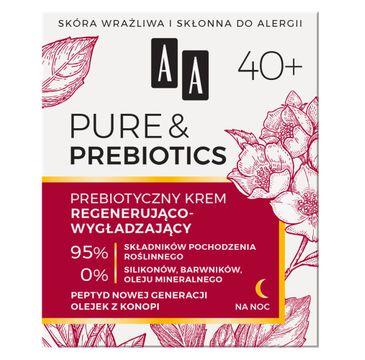 AA Pure&Prebiotics 40+ prebiotyczny krem regenerująco-wygładzający na noc (50 ml)