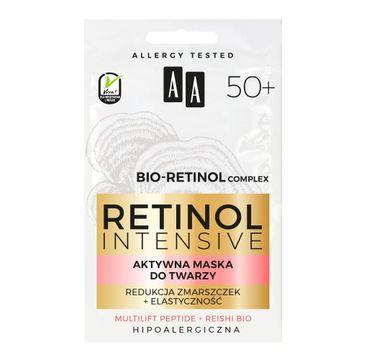 AA Retinol Intensive 50+ aktywna maska redukcja zmarszczek + elastyczność (2 x 5 ml)