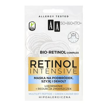 AA Retinol Intensive maska na podbródek szyję i dekolt ujędrnienie + redukcja zmarszczek (2 x 5 ml)