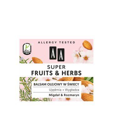 AA – Super Fruits&Herbs balsam olejowy w świecy Migdał & Rozmaryn (50 g)