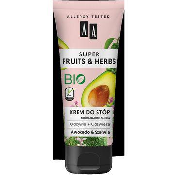 AA Super Fruits & Herbs – krem do stóp awokado&szałwia (75 ml)