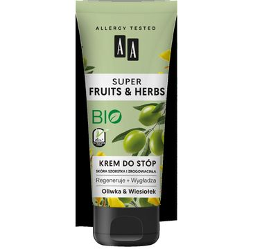 AA Super Fruits & Herbs – krem do stóp oliwka&wiesiołek (75 ml)