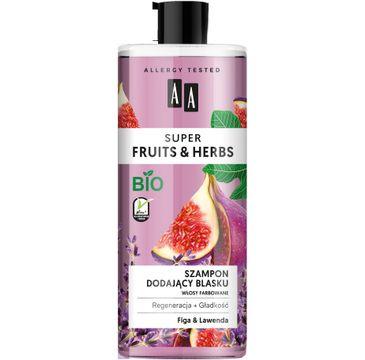 AA Super Fruits & Herbs szampon dodający blasku włosy farbowane figa&lawenda (500 ml)