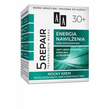 AA Technologia Wieku 5 Repair Energia Nawilżenia 30+ wygładzający krem do twarzy na noc 50 ml