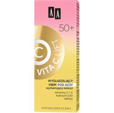 AA Vita C Lift 50+ Wygładzający Krem pod oczy wyrównujący koloryt (15 ml)