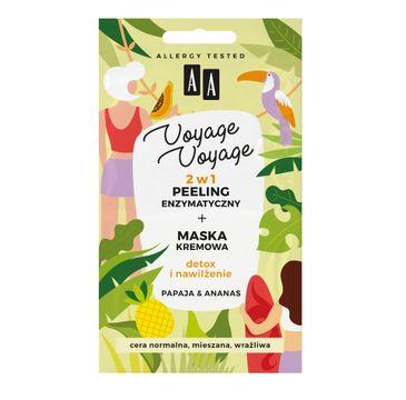 AA Voyage Voyage 2w1 peeling enzymatyczny+maska kremowa papaja&ananas (2 x 5 ml)