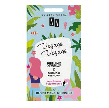 AA Voyage Voyage 2w1 peeling olejowy+maska kremowa olej monoi&hibiskus (2 x 5 ml)