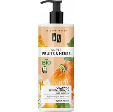 AA – Super Fruits & Herbs odżywka rewitalizująca włosy zniszczone dynia&jaśmin (500 ml)