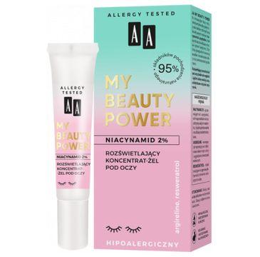 AA My Beauty Power Niacynamid 2% Roz艣wietlaj膮cy koncentrat-偶el pod oczy (15 ml)