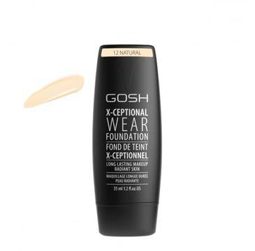 Gosh X-Ceptional Wear Foundation Long Lasting Makeup (długotrwały podkład do twarzy 12 Natural 35 ml)
