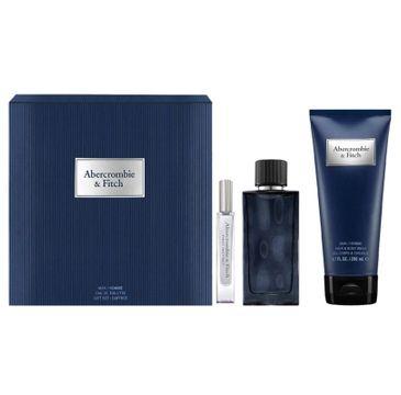 Abercrombie&Fitch First Instinct Blue Man zestaw woda toaletowa spray 100ml + miniatura wody toaletowej 15ml + żel pod prysznic 200ml