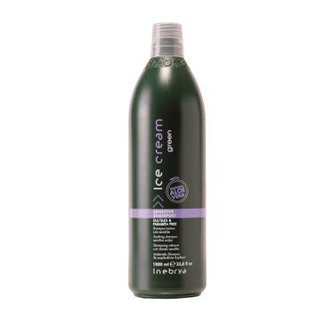 Inebrya Ice Cream Green Sensitive Shampoo – szampon do wrażliwej skóry głowy (1000 ml)