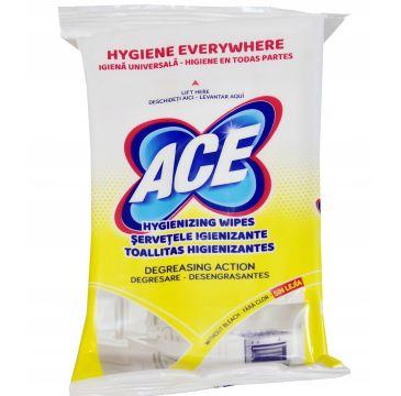 Ace Chusteczki Odkażające Odtłuszczające (1 op.- 40 szt.)