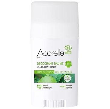 Acorelle Organiczny dezodorant w sztyfcie Cytryna i Zielona Mandarynka (40 g)