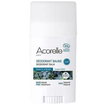 Acorelle Organiczny dezodorant w sztyfcie Jałowiec i Mięta (40 g)