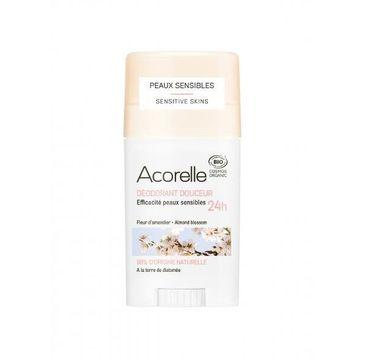 Acorelle Organiczny dezodorant w sztyfcie z ziemią okrzemkową Almond Blossom (45 g)