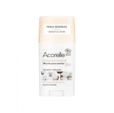 Acorelle Organiczny dezodorant w sztyfcie z ziemią okrzemkową Cotton Powder (45 g)