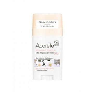 Acorelle Organiczny dezodorant w sztyfcie z ziemią okrzemkową Heart of Jasmin (45 g)