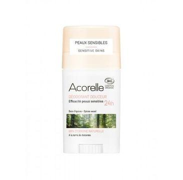 Acorelle Organiczny dezodorant w sztyfcie z ziemią okrzemkową Spices Wood (45 g)