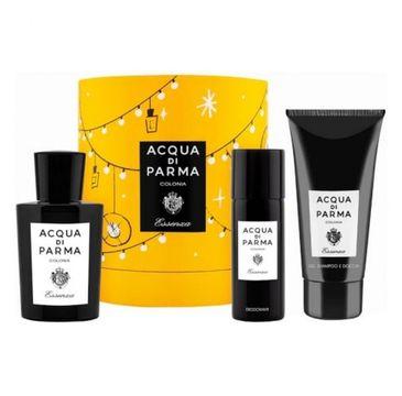 Acqua di Parma Colonia Essenza zestaw woda kolońska spray 100ml + żel pod prysznic 75ml + dezodorant spray 50ml