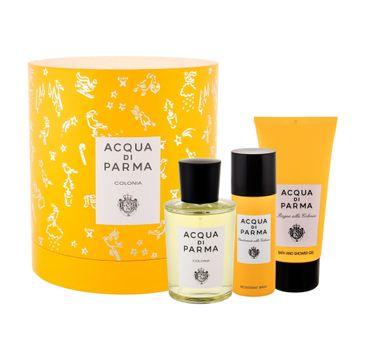 Acqua di Parma Colonia zestaw prezentowy woda kolońska 100 ml + żel pod prysznic 75 ml + dezodorant spray 50 ml