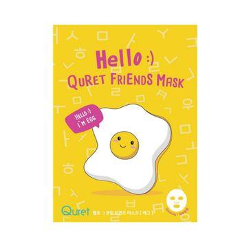 Quret – Hello:) Friends Mask maska do twarzy w płachcie Jajko (25 g)
