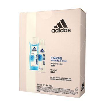 Adidas Zestaw prezentowy Climacool Women deo spray 150 ml + żel pod prysznic 250 ml