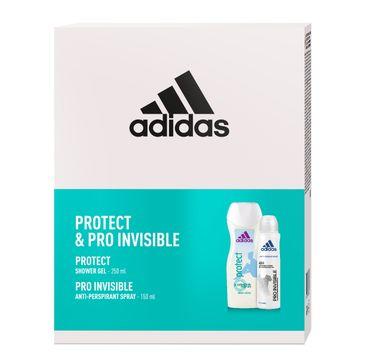 Adidas Zestaw prezentowy Pro Invisible & Protect Women deo spray 150ml+żel pod prysznic 250ml