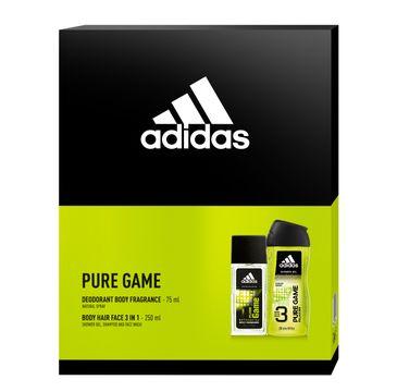 Adidas Zestaw prezentowy Pure Game Men deo spray 150ml+żel pod prysznic 250ml