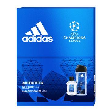 Adidas Zestaw prezentowy UEFA Anthem Edition Men woda toaletowa 50ml+żel pod prysznic 250ml (1 szt.)