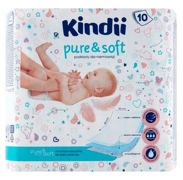 Kindii – Pure & Soft Podkłady jednorazowe dla niemowląt (1op.- 10 szt.)