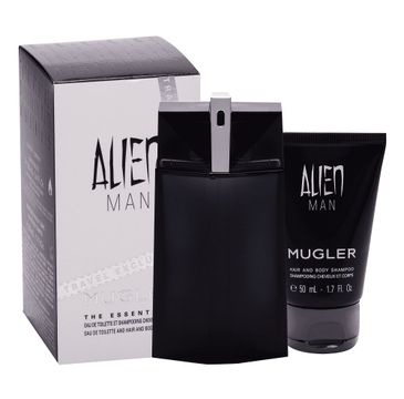 Mugler Alien Man – zestaw woda toaletowa spray (100 ml) + żel pod prysznic (50 ml)