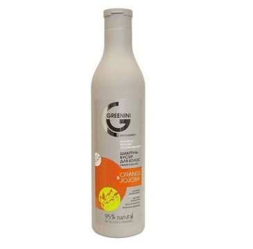 Greenini – Orange & Jojoba Shampoo szampon wzmacniający do włosów Pomarańcza i Olej Jojoba (500 ml)