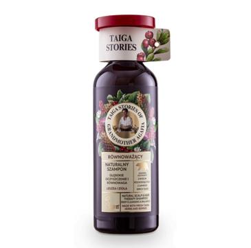 Babuszka Agafia Naturalny, oczyszczająco - równoważący szampon do włosów z leuzeą i ziołami (500 ml)