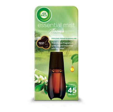 Air Wick Essential Mist Aroma energetyzujący wkład do automatycznego odświeżacza o zapachu limonki i pomarańczy 20ml