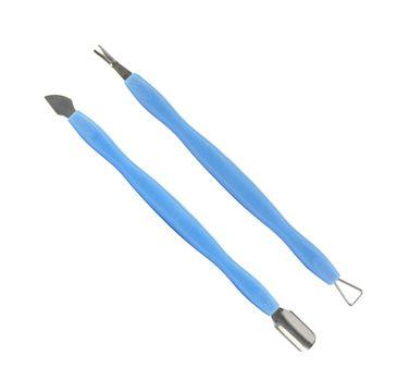 Alle Paznokcie – łopatka, dłutko, nożyk dwustronny do skórek niebieski (2 szt.)