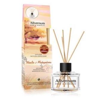 Allvernum – Home & Essences Dyfuzor z patyczkami zapachowymi Wanilia z Madagaskaru (50 ml)