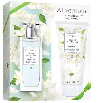 Allvernum zestaw prezentowy dla kobiet woda perfumowana Lily of the Valley & Jasmine 50 ml balsam do ciała 200 ml